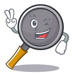 two finger frying pan cartoon character vector image