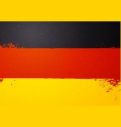 vintage grunge texture flag of germany vector image