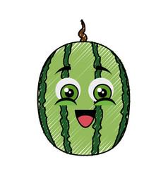 watermelon funny cartoon vector image