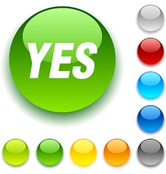 Yes button vector