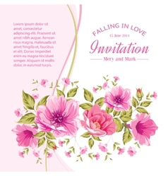 Card with flowers vector image vector image