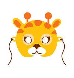 giraffe animal carnival mask childish masquerade vector image vector image