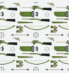hunting pattern flat style equipment vector image