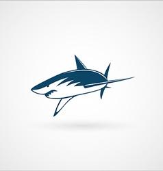 Shark attack logo sign vector