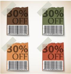 Vintage Discount Tags Design vector image vector image