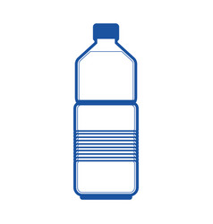 water bottle icon in blue silhouette vector image