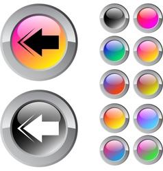Back arrow multicolor round button vector image vector image