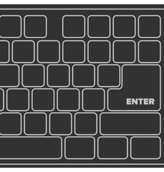 Black laptop computer keyboard vector image