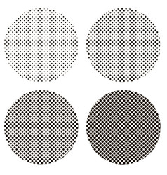 circle dots pattern pop art vector image vector image