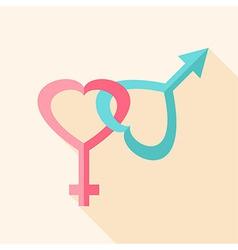 Gender hearts signs vector