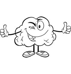 Cartoon brain activity drawings vector image