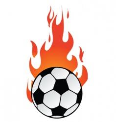 flaming soccer vector image