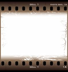 grunge film cell vector image