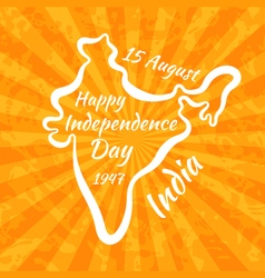 Happy Independence Day in India vector image vector image