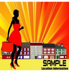 high street shopping vector image