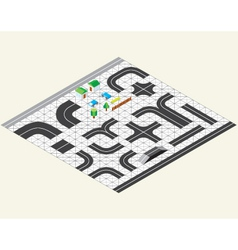 isometric map kit vector image
