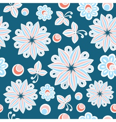Seamless floral hand-drawn background vector image