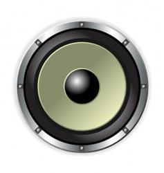 speaker over white vector image vector image