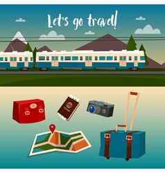 Time to Travel by Train vector image vector image