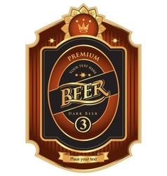 beer premium class vector image vector image