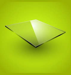 glass framework on green background vector image
