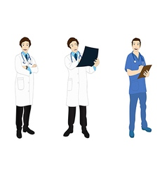 Medical Staff Man Full Body Asian Color vector image vector image