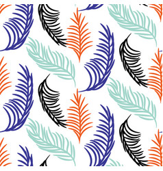 palm tree leaves seamless background vector image vector image