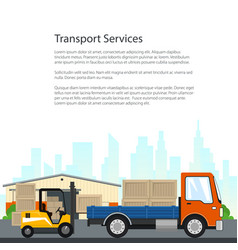 poster of transport services vector image vector image