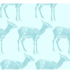 An antelope seamless animal pattern vector