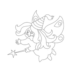 Beautiful cartoon fairy with magic wand zFor vector