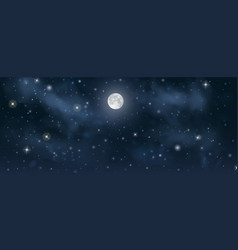 beautiful night starry sky with shining vector image