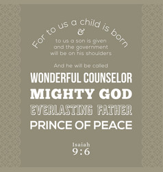 Bible verse about jesus for print on t shirt vector