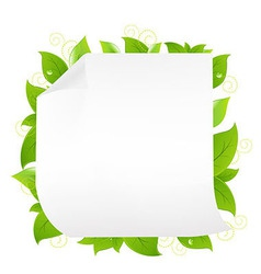 Blank Note Paper With Sprout vector