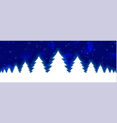 blue christmas banner with white glowing xmas vector image