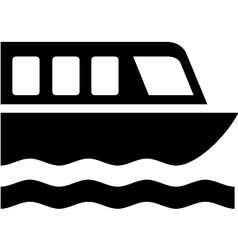 Boat Tour Symbol vector image