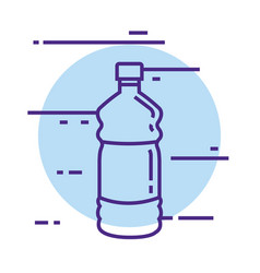 bottle water gym icon vector image