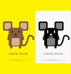 brown and black rat vector image vector image