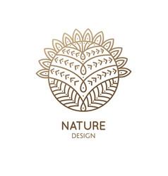 cactus logo template vector image