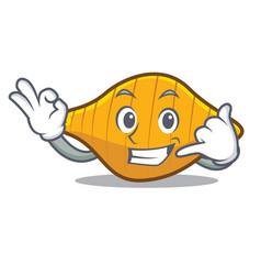 Call me conchiglie pasta mascot cartoon vector
