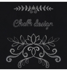 Chalk floral ornament vector