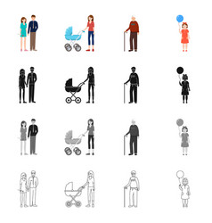 character and avatar icon vector image
