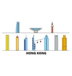 china hong kong flat landmarks vector image