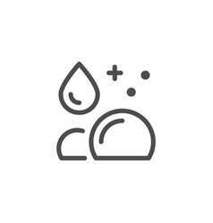 Cleaning line icon vector