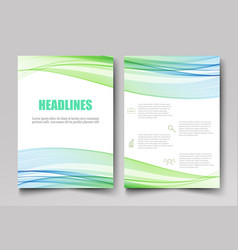 Corporate template design brochuresflyers vector