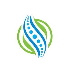 Creative medical chiropractic concept logo design vector