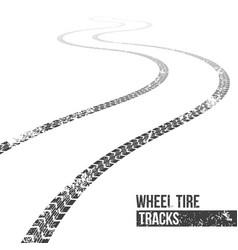 Creative of wheel tire tracks vector