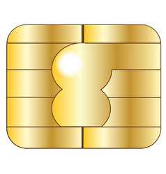 Credit card chip vector