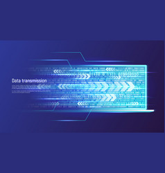 Data transmission technology concept vector