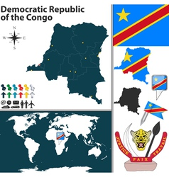 Democratic Republic of the Congo map vector