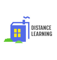 distance learning banner online education courses vector image